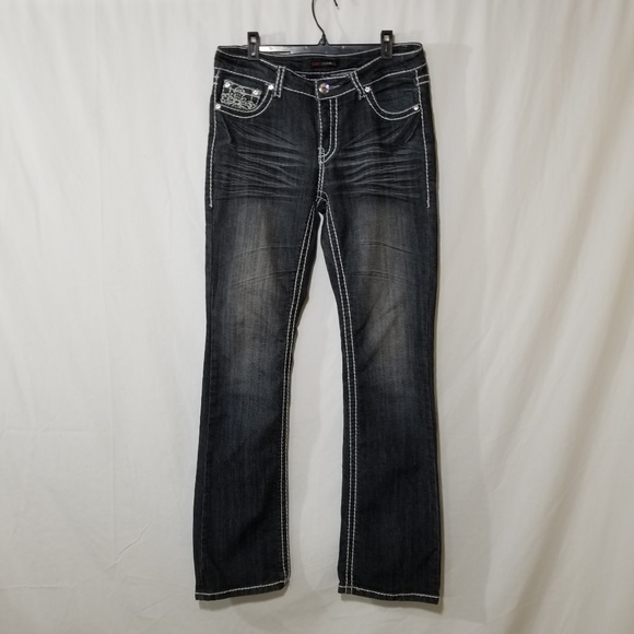 Candy Couture Denim - Candy Couture blue jeans with white stitching